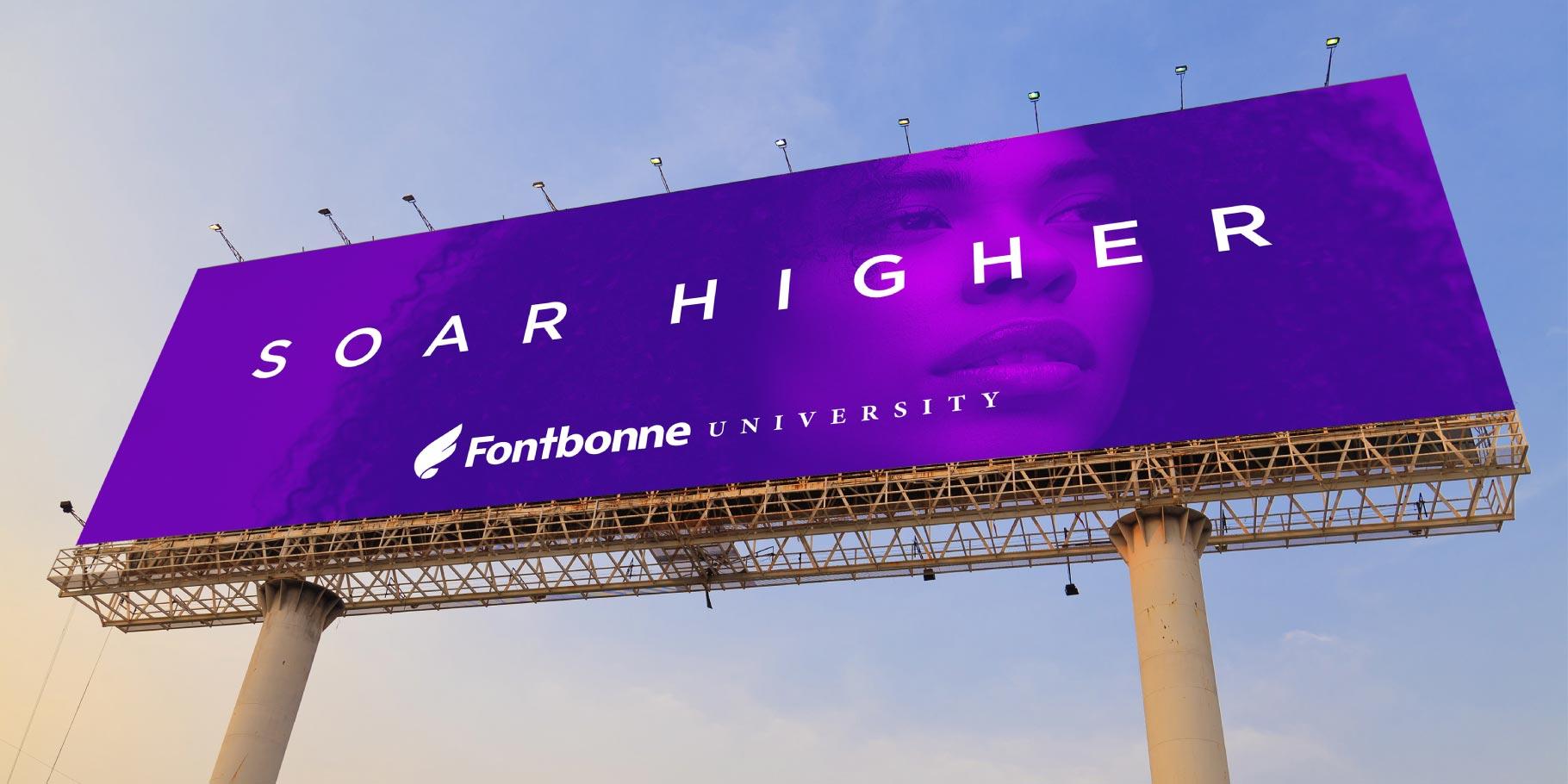 Fontbonne University Soar Higher billboard design