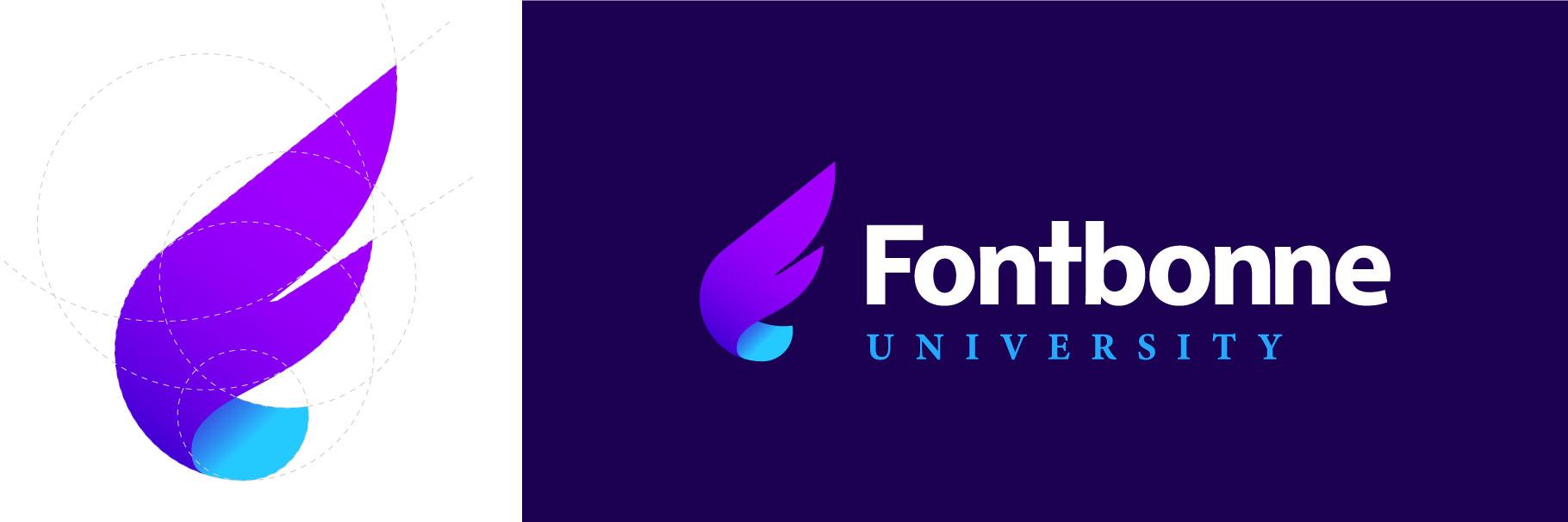 Fontbonne University logo mark and full logo