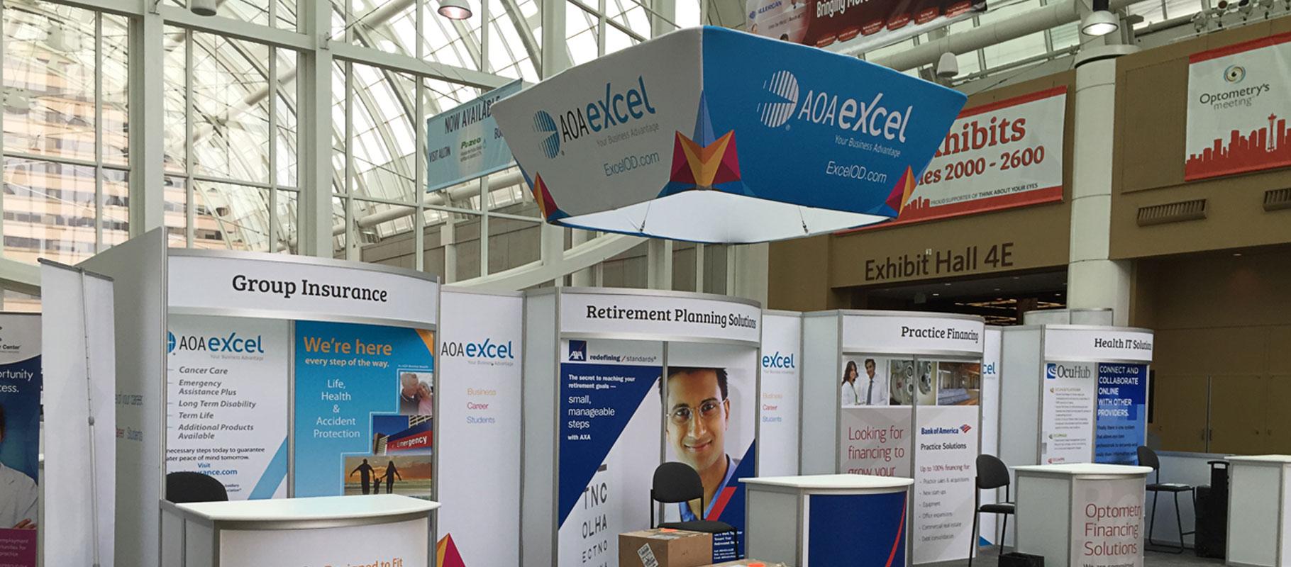 AOAExcel trade show graphic designs