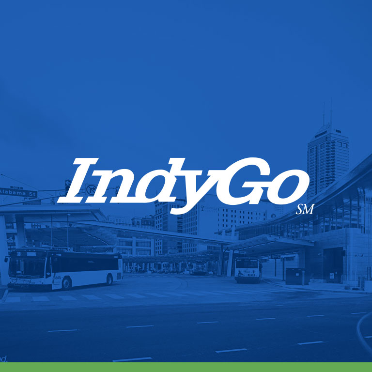 graphic of IndyGo brand square