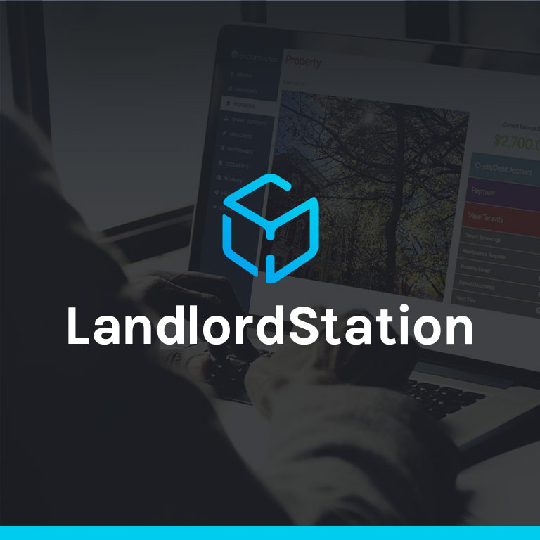 graphic of LandlordStation brand square