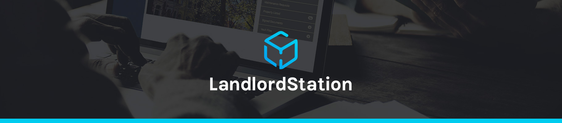 graphic of LandlordStation brand wide banner
