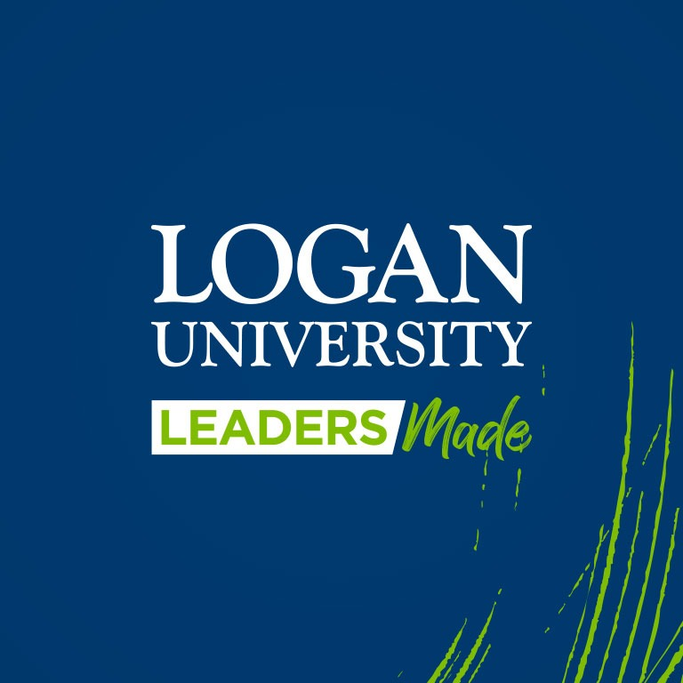graphic of Logan University brand square