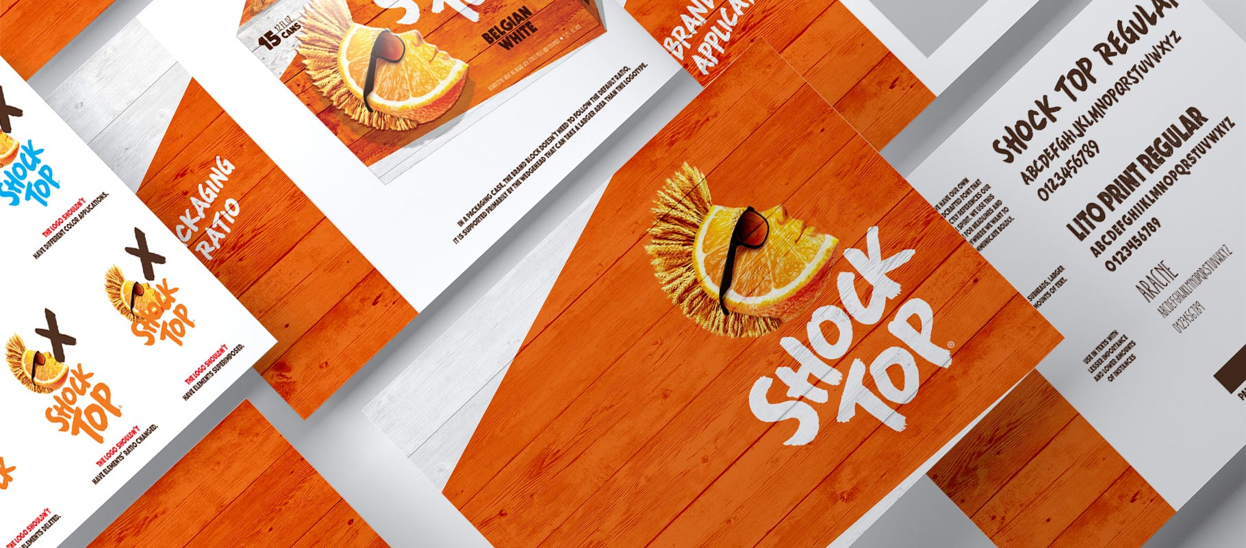 Shock Top 15-can package design