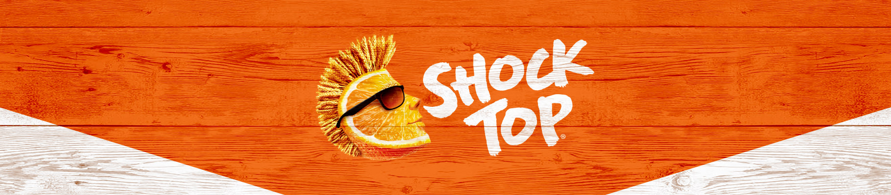 graphic of Shock Top brand wide banner