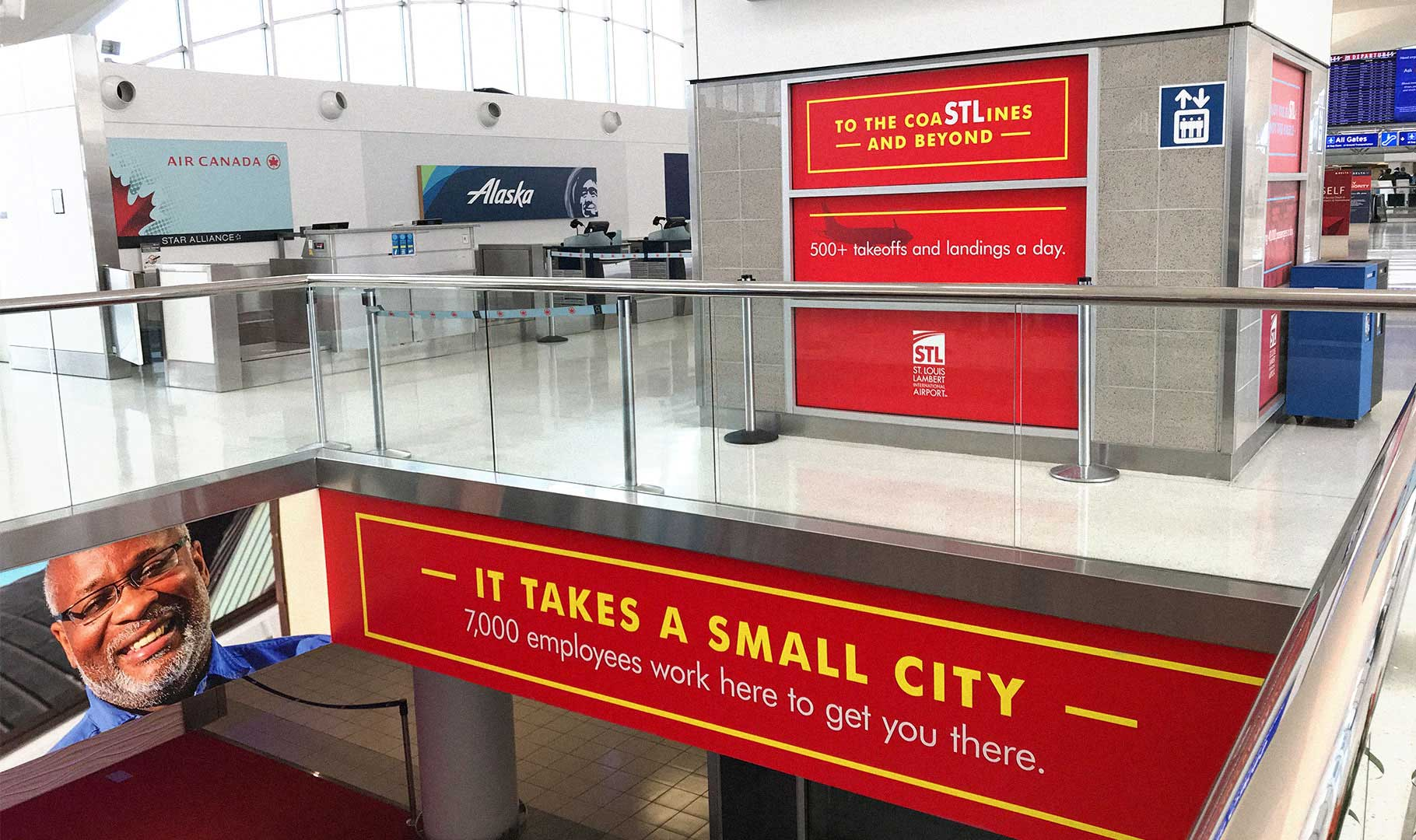 St. Louis Lambert International Airport graphic designs