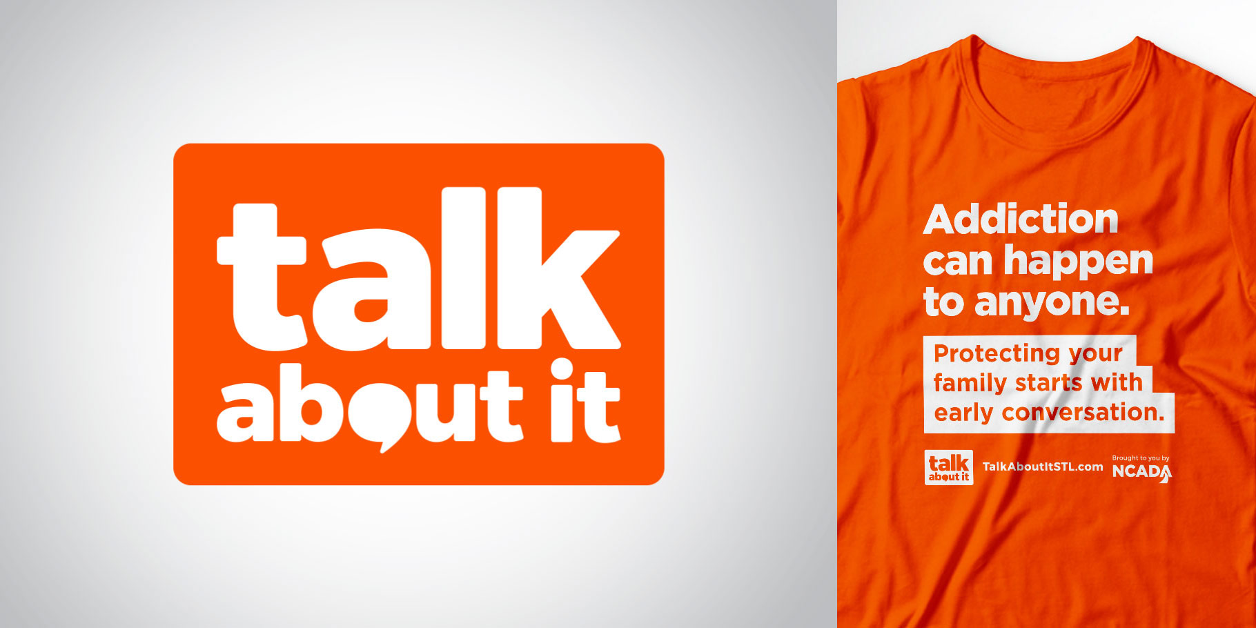 Talk About It logo and shirt designs